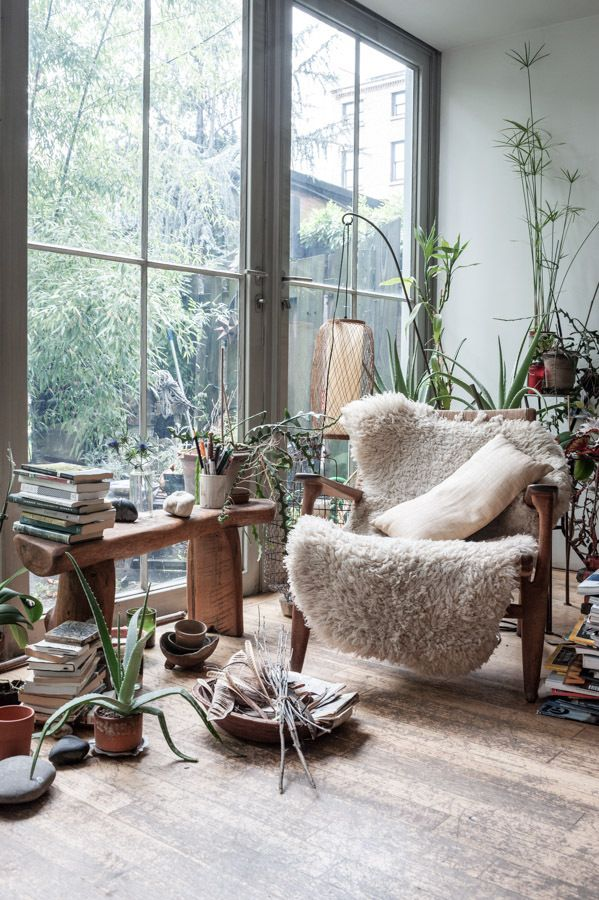 natural light and lots of plants
