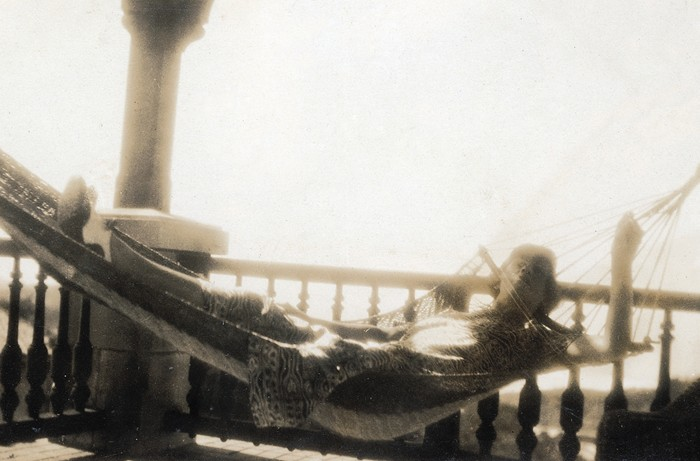 Mademoiselle Chanel on the beach in Biarritz, 1920