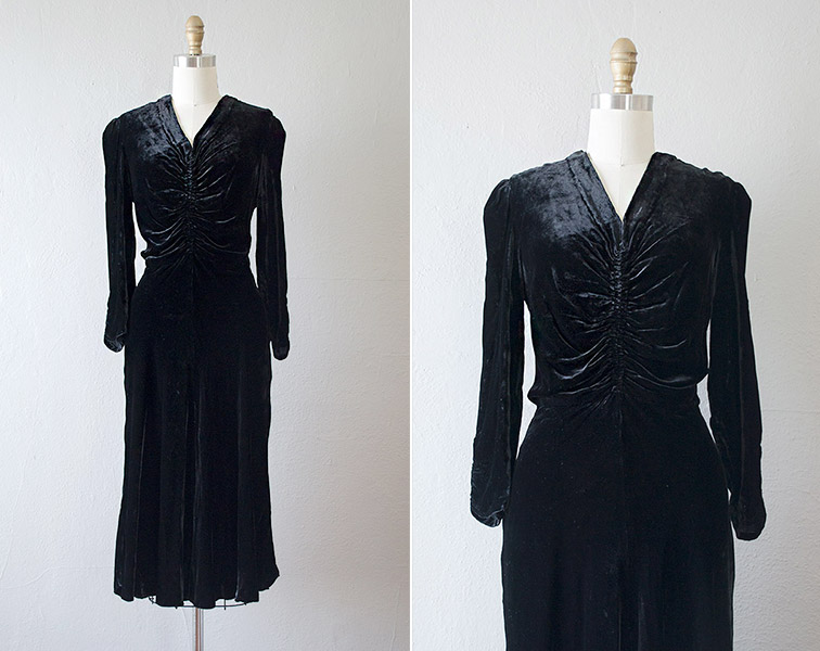 vintage1930sblacksilkvelveteveningdress_etsy