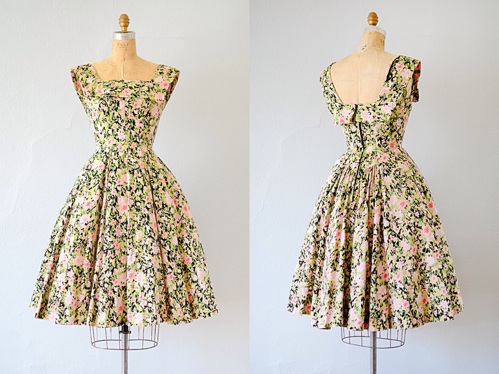 Vintage 1950s dress from Adored Vintage