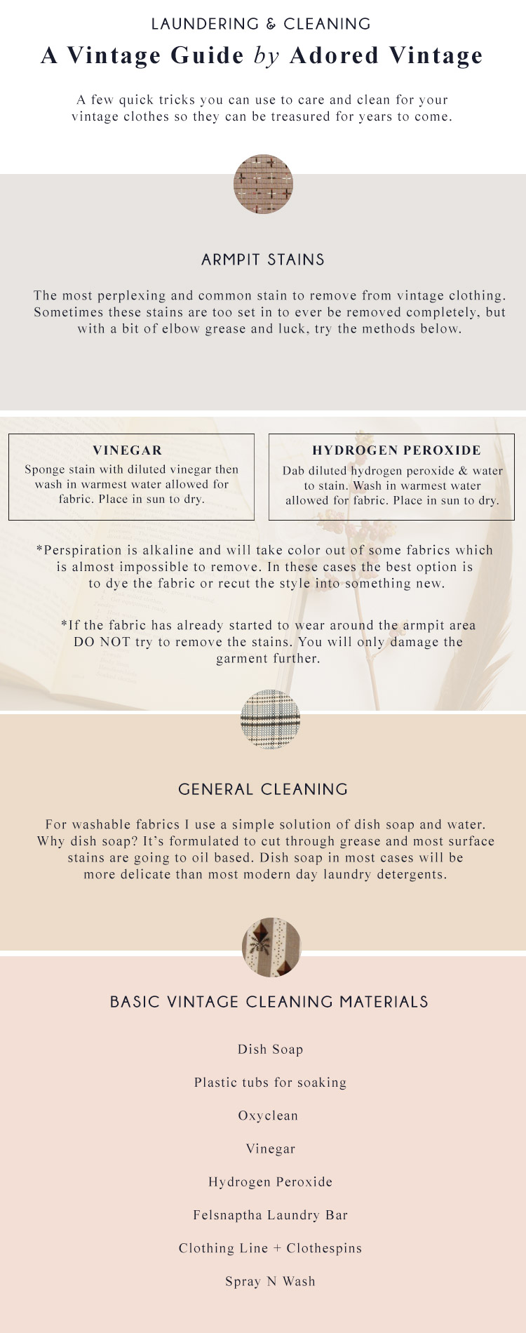 Guide to Cleaning and Laundering Vintage Clothing from Adored Vintage