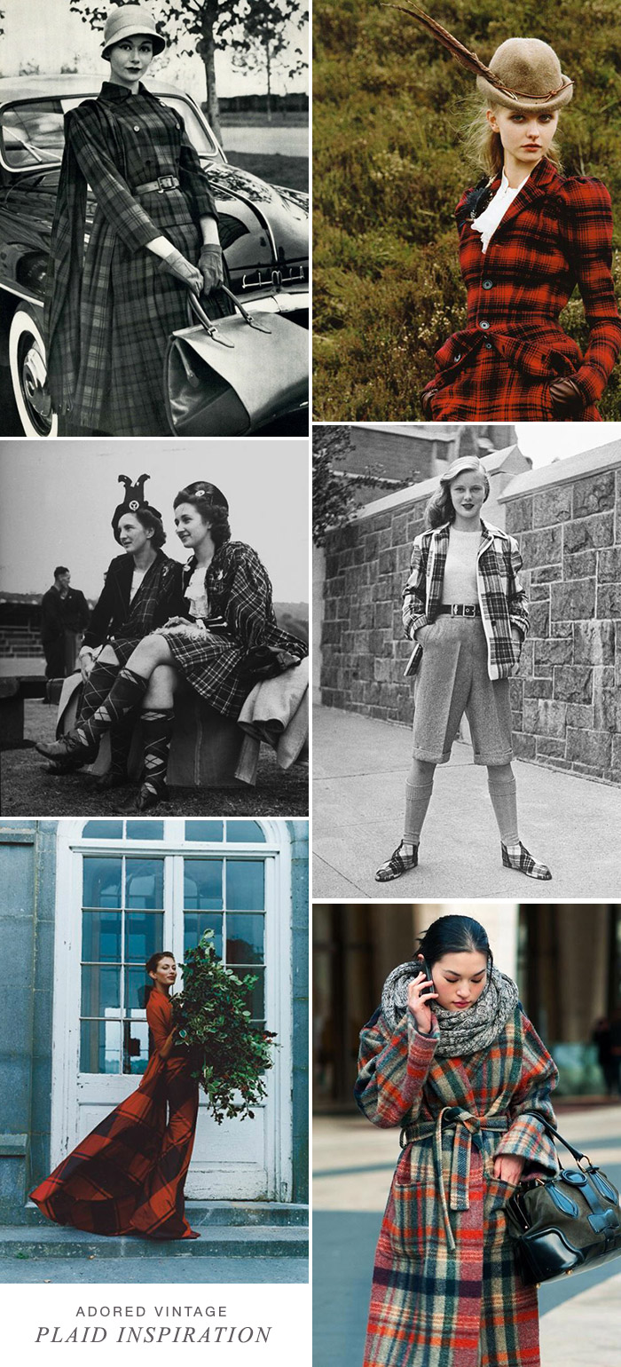 Vintage Plaid and Tartan Inspiration