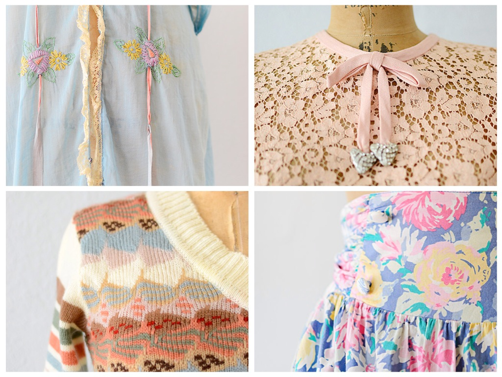 Vintage Clothing Close Up Details