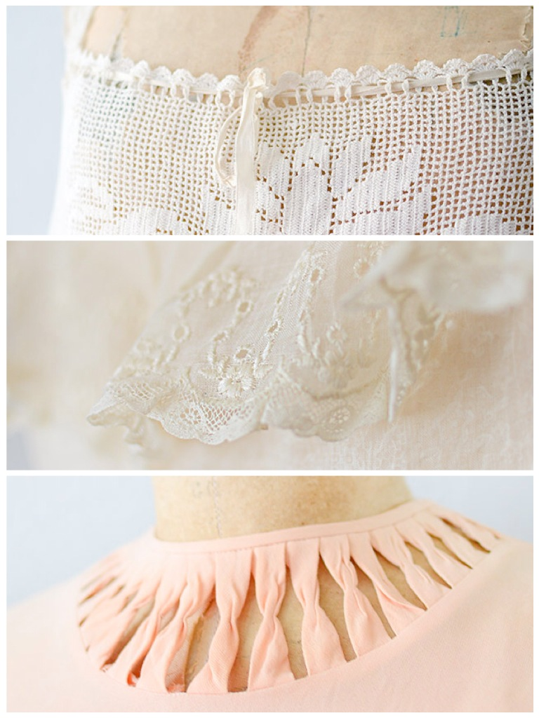 Romantic Close Up Details Vintage Clothing