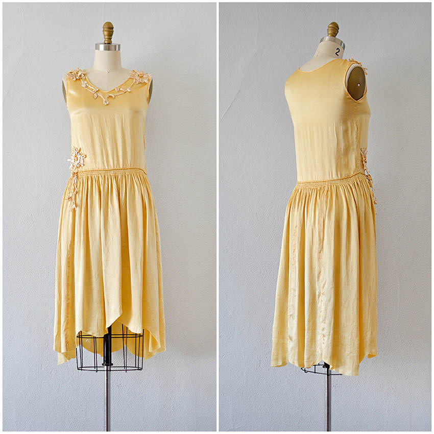 TWEET_vintage1920syellowgoldflapperdress