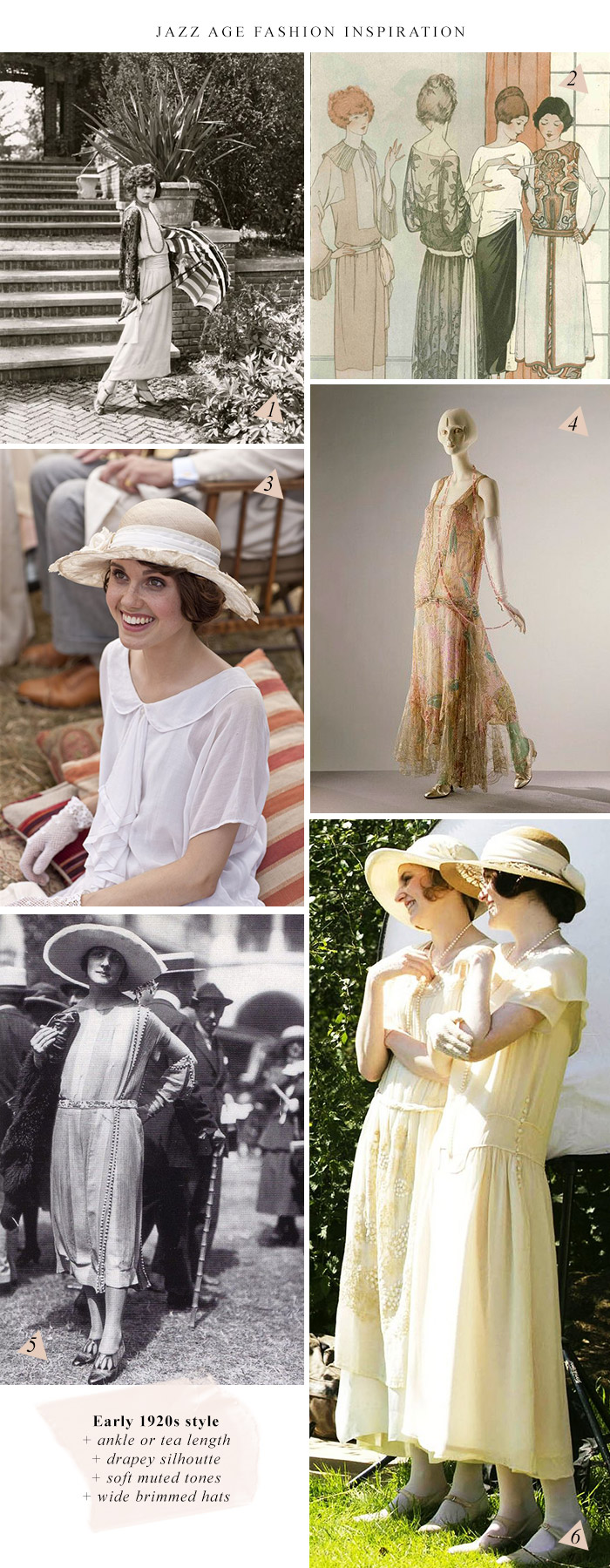 Jazz Age Lawn Party Fashion Inspiration \ Early 1920s