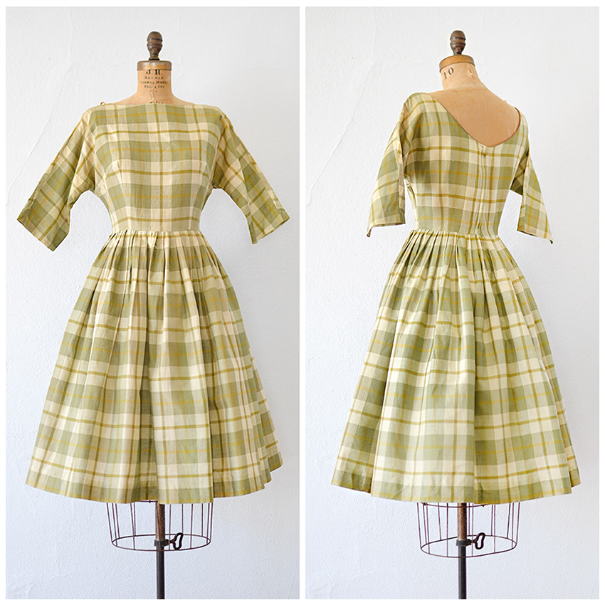 TWEET_vintage1950sgreenyellowplaiddress