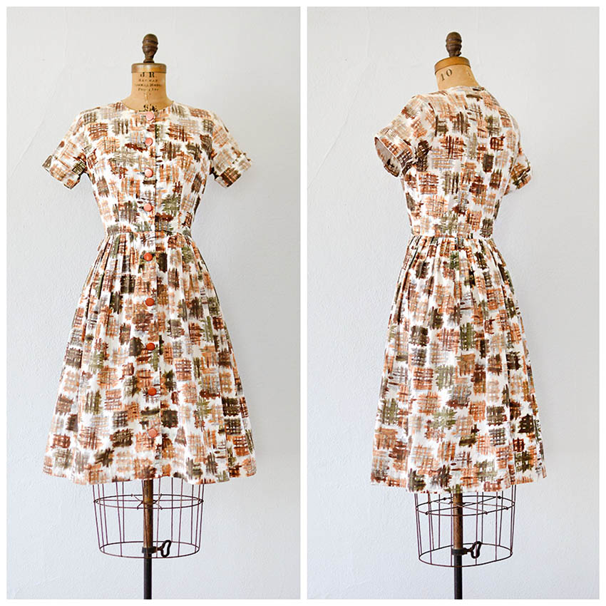 TWEET_vintage1960shatchmarkprintcottondress