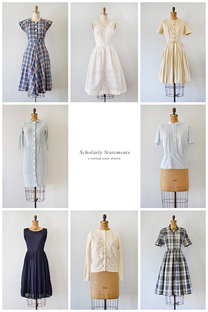 Scholarly Statements | A Vintage Shop Update
