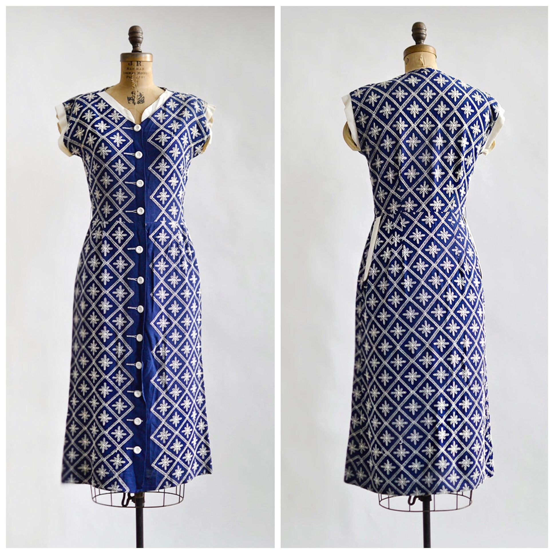 TWEET_vintage1950sblueembroidereddaydress
