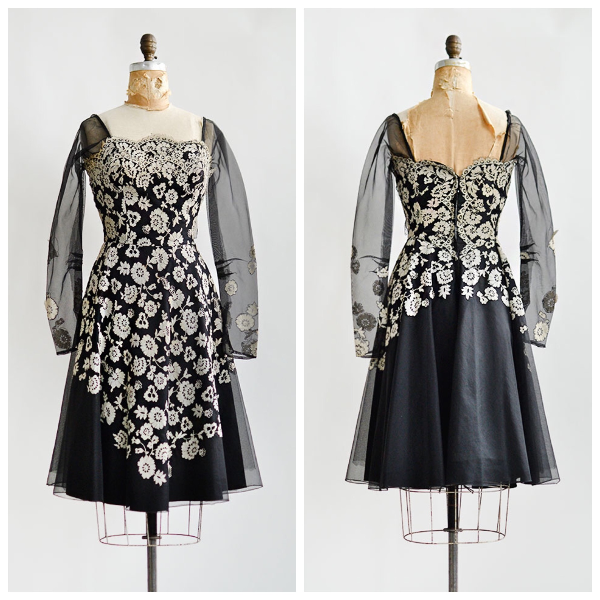 TWEET_vintage1950sblackivorylacepeggyhuntdress