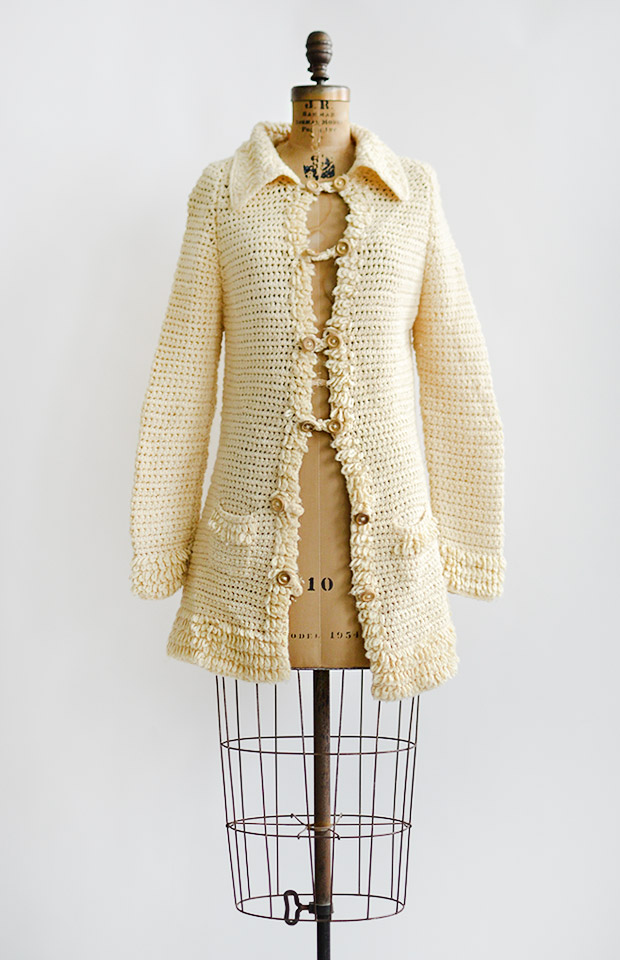 vintage1970screamknitcozycardigancoat