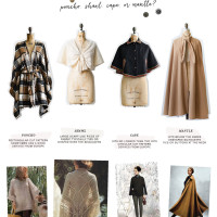 Vintage Fashion Reference Guide | Poncho, shawl, cape, or mantle?