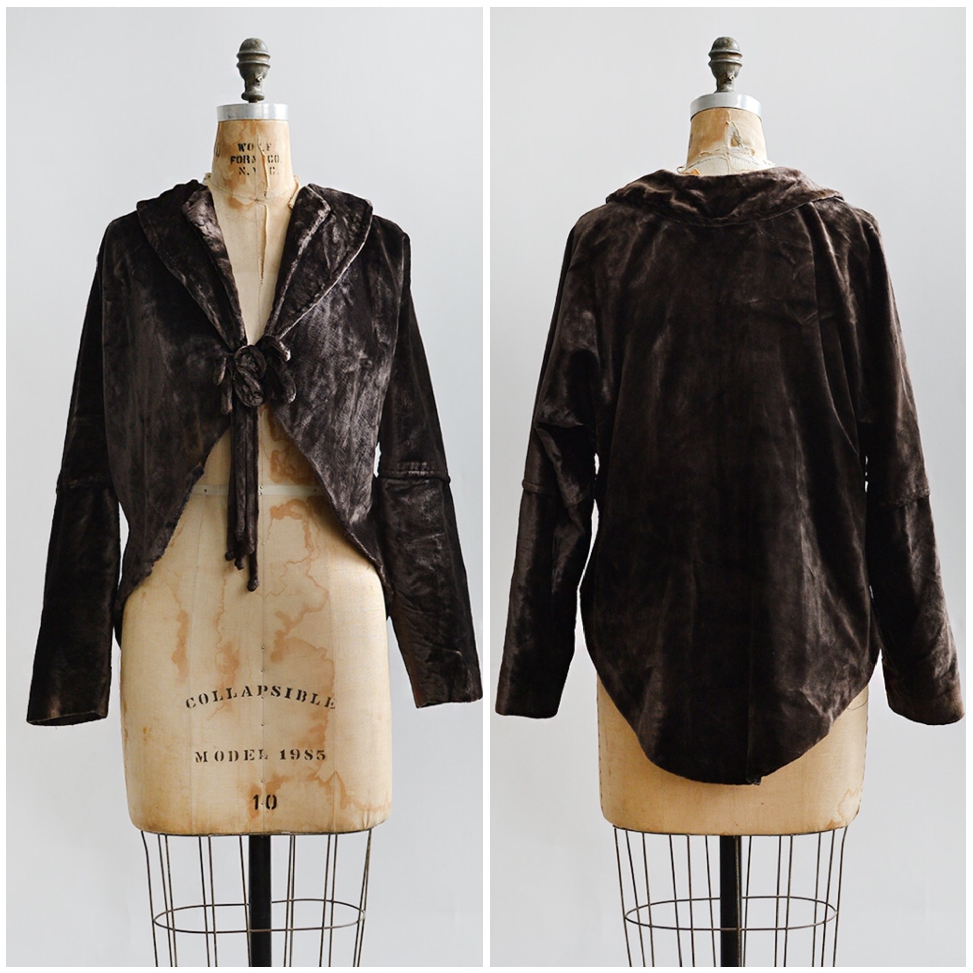 TWEET_antique1910sbrownvelveteveningjacket