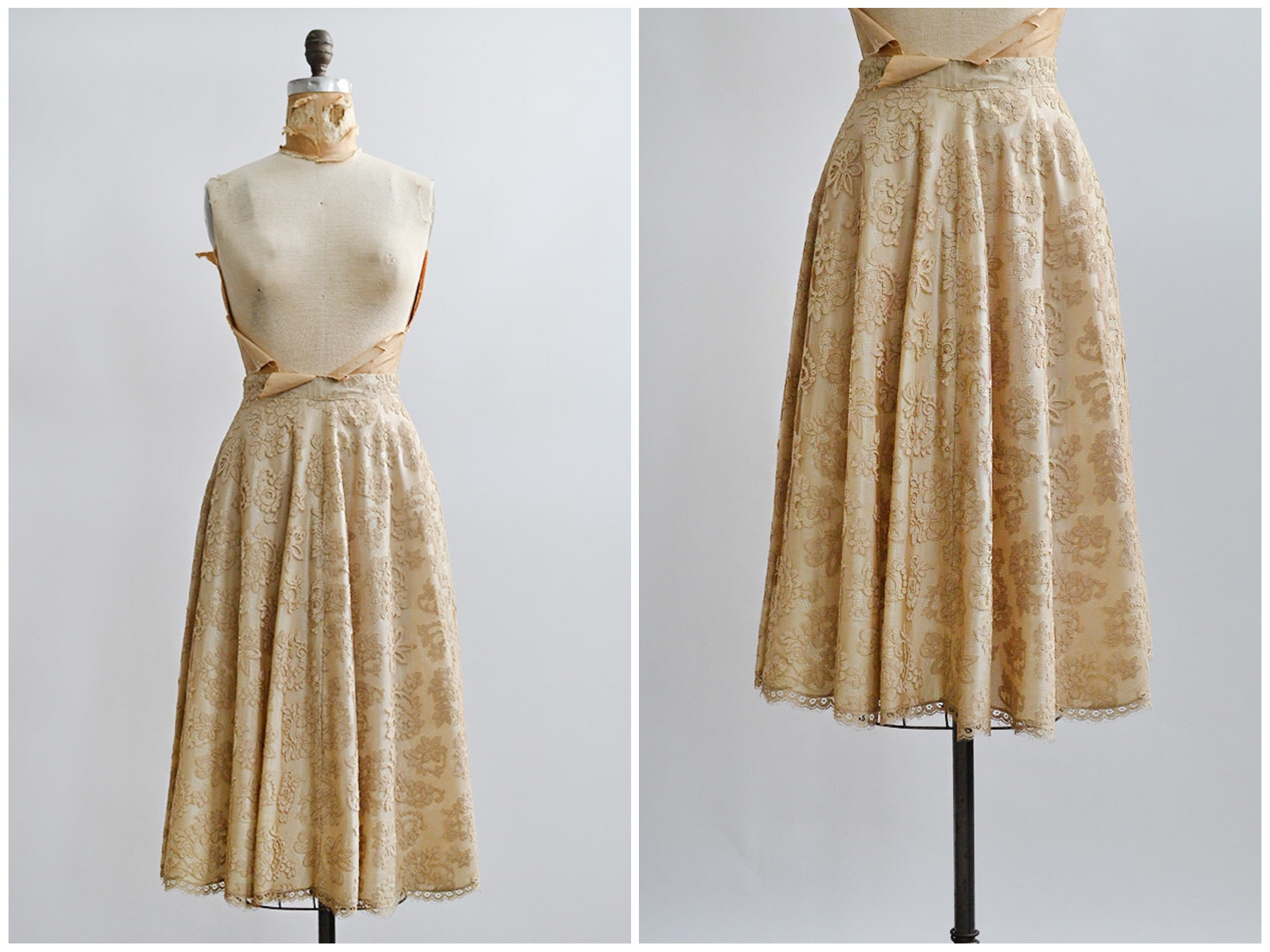TWEET_vintage1950screamlacealineskirt