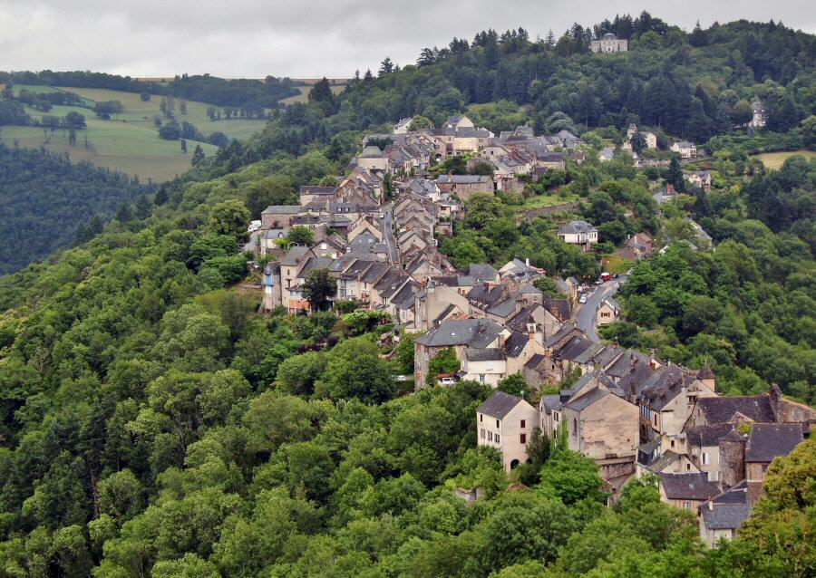 Najac in Aveyron, France
