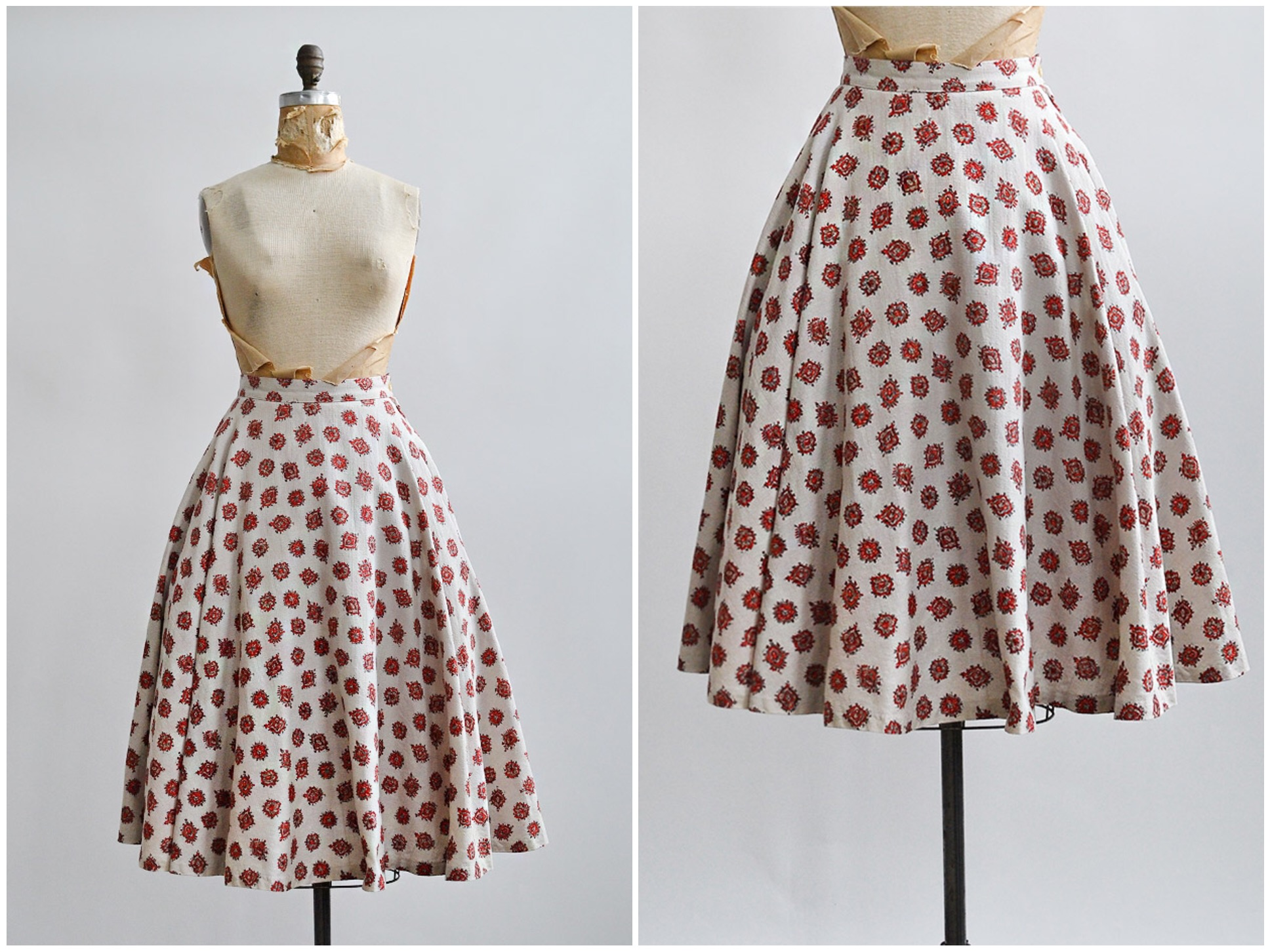 TWEET_vintage1950smedallionprintcircleskirt