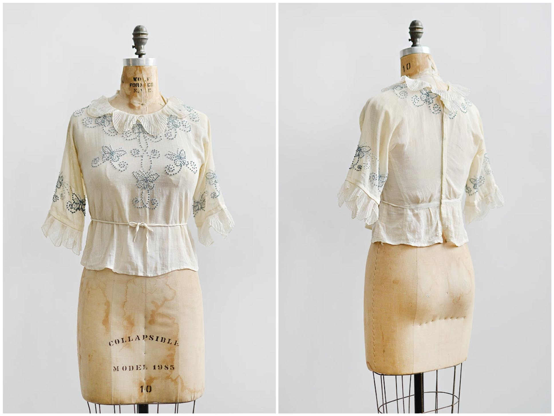 tweet_antique1910sembroideredpleatedcollarblouse