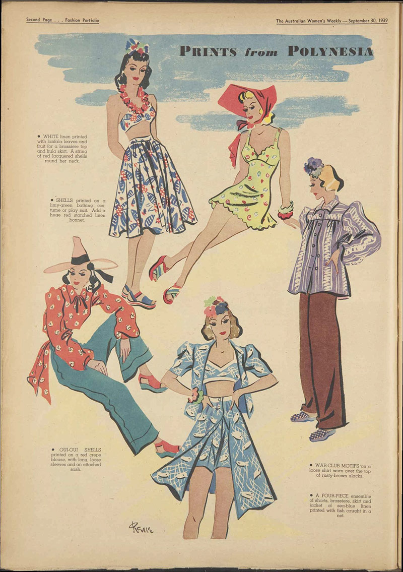 Vintage Summer and Beach Fashion from 1939