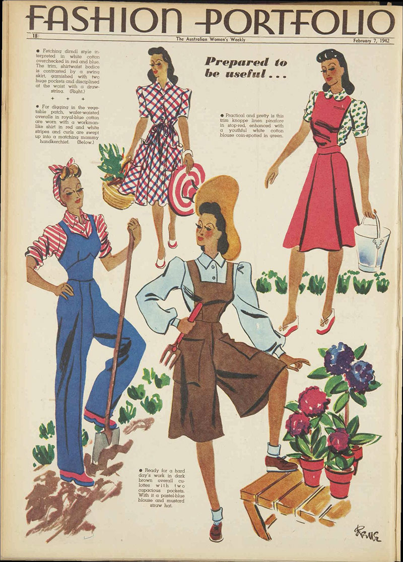 Vintage 1942 daywear fashion