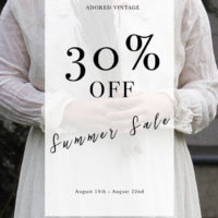 The Annual 30% OFF Summer Clearance Sale is THIS WEEK!