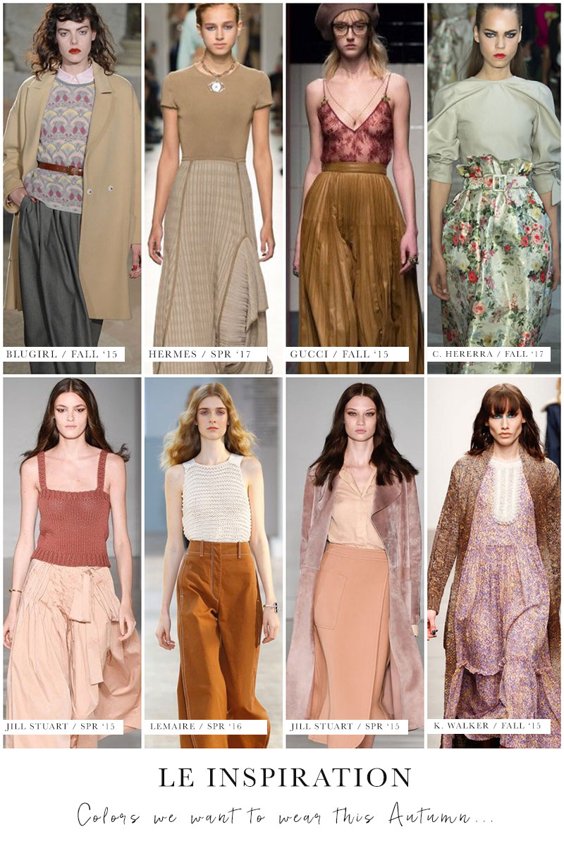 Autumn Wardrobe Color Inspiration
