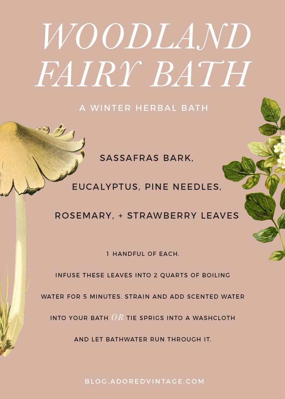 Woodland Fairy Herbal Bath for Winter