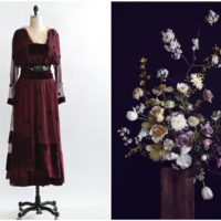 Antique dresses and flowers, a match made in heaven.